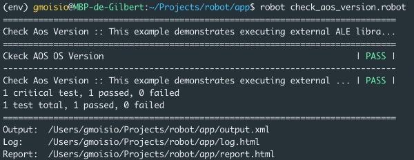Robot AOS CLI