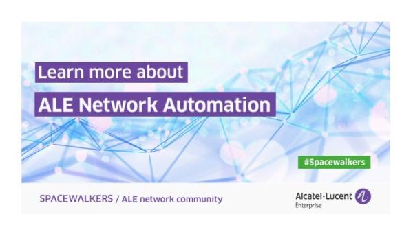 Alcatel-Lucent Enterprise Network Automation