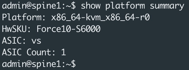 SONIC Show Platform Summary