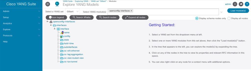 YANG Suite explore module